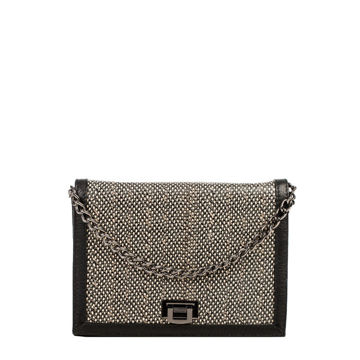 Linea Pelle Brooklyn Shoulder Bag in Black Dot
