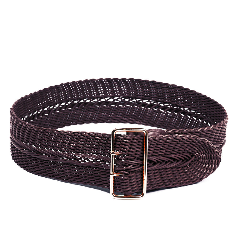 Linea Pelle Wide Braid Waist Belt in Tmoro