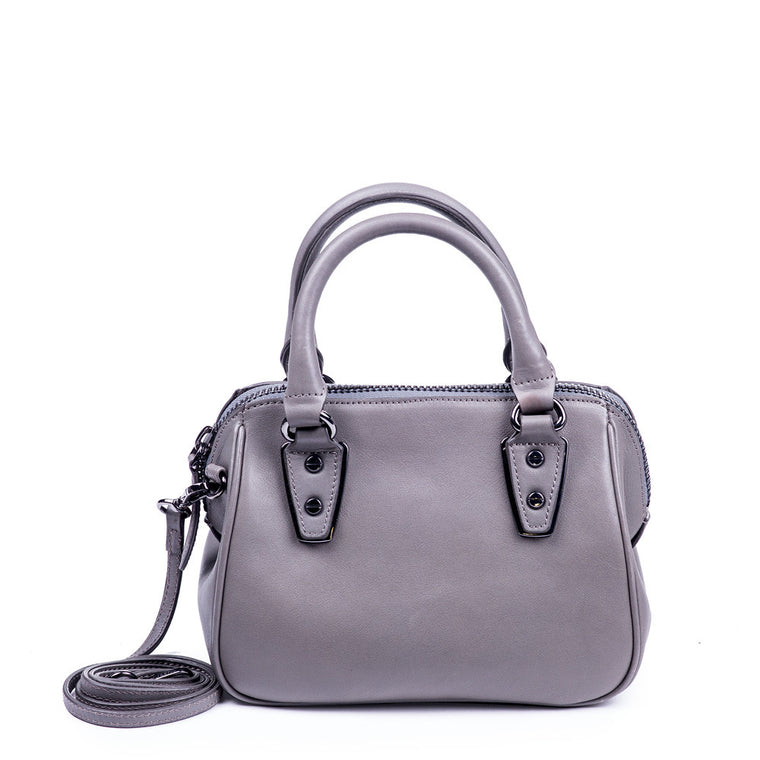 Linea Pelle Mini Satchel Bag in Grey