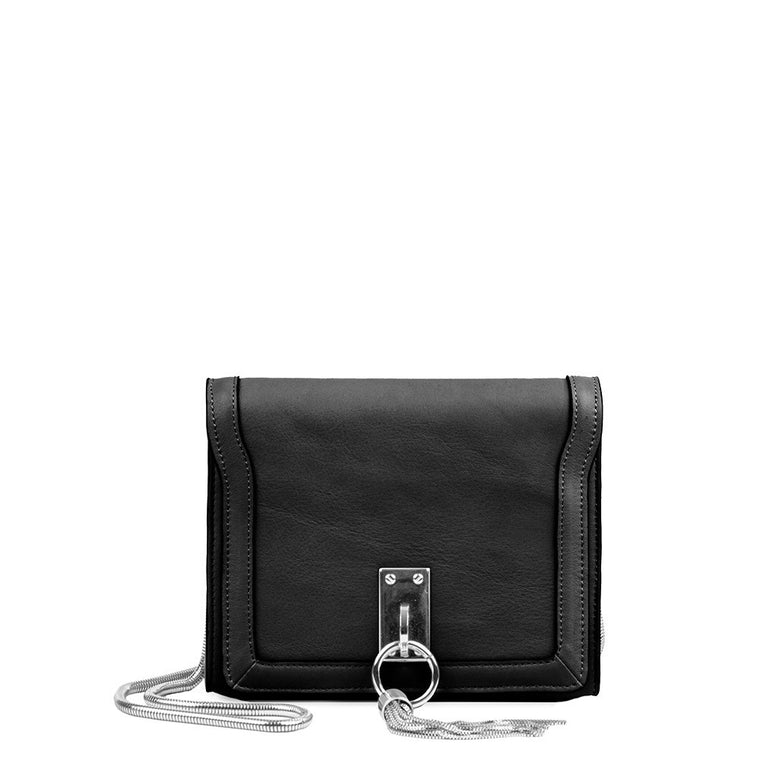 Linea Pelle Crosby Shoulder Bag in Black