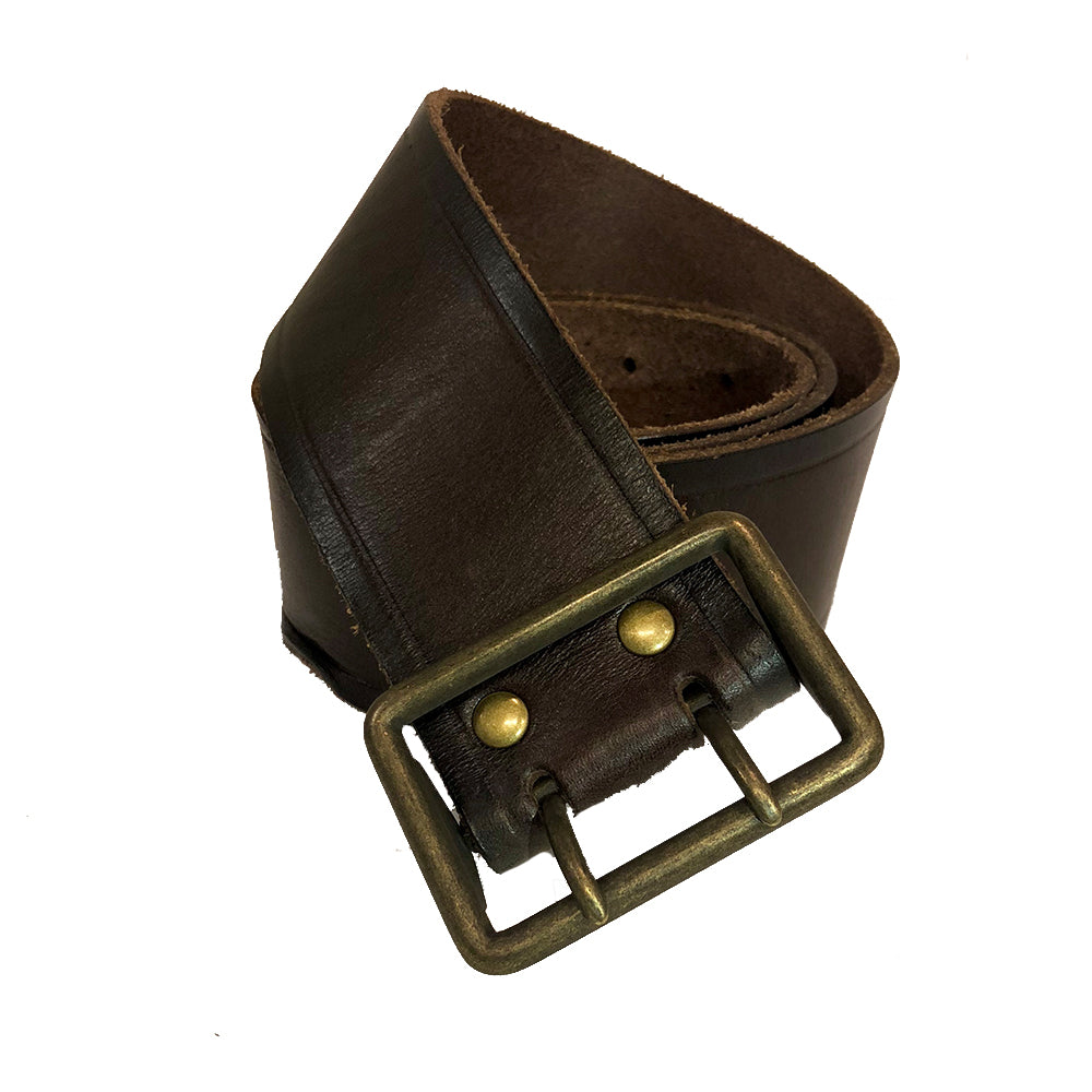 Vintage Double Prong Belt | Dark Brown