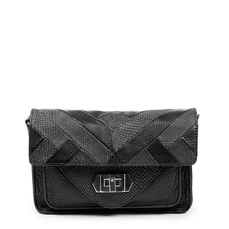 Linea Pelle Layla Shoulder Bag in Black