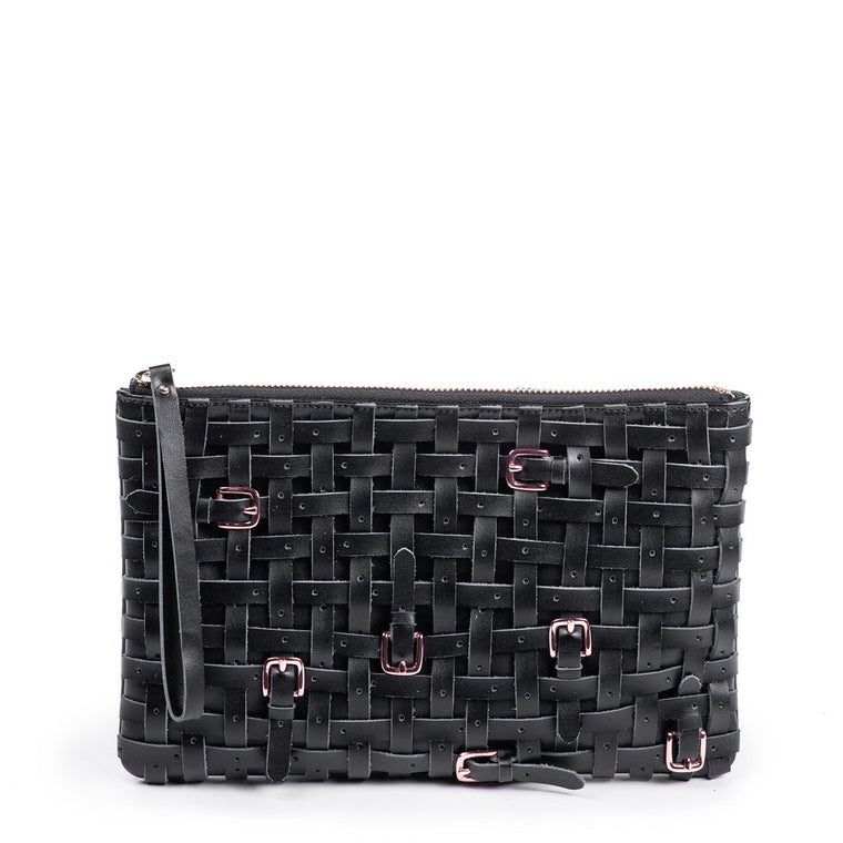Linea Pelle Clutch in Black