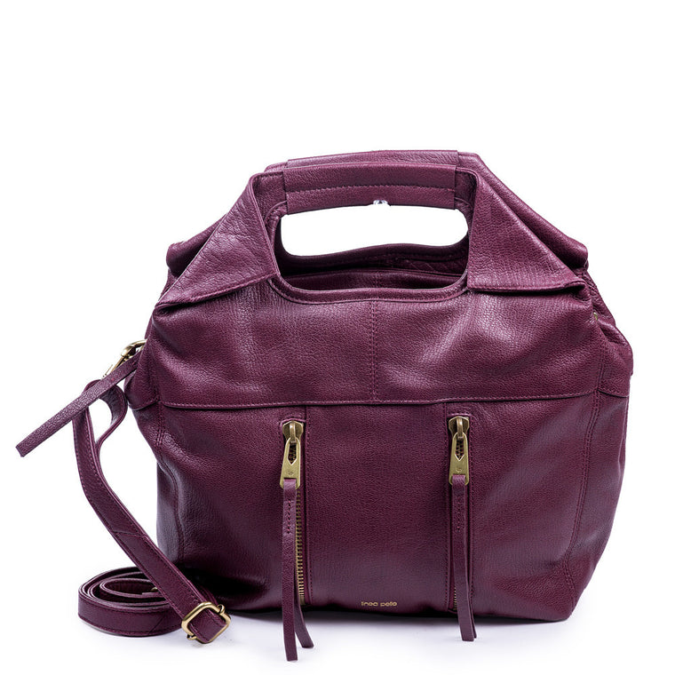 Linea Pelle Tote Bag in Wine