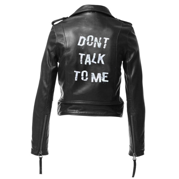 Custom Hand Painted Leather Jacket