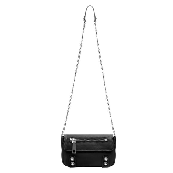 Linea Pelle Dylan Crossbody Mini Bag in Black
