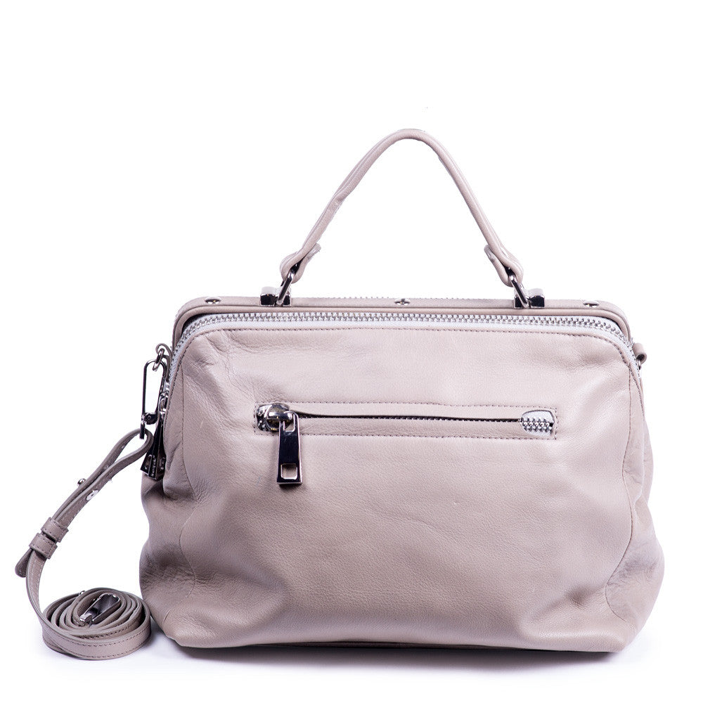 Linea Pelle Eden Satchel Bag in Taupe