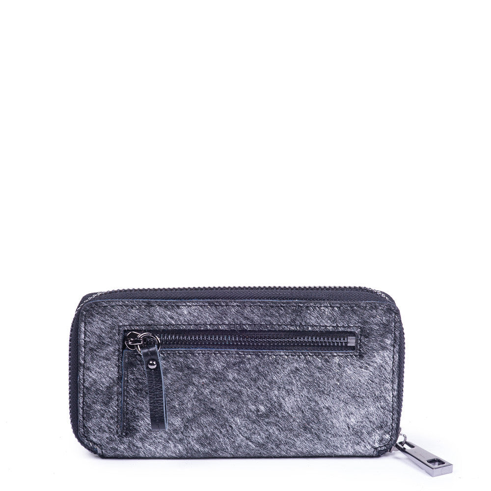 Linea Pelle Haircalf Wallet in Metallic