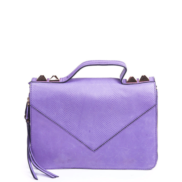 Grayson Shoulder Bag in Purple