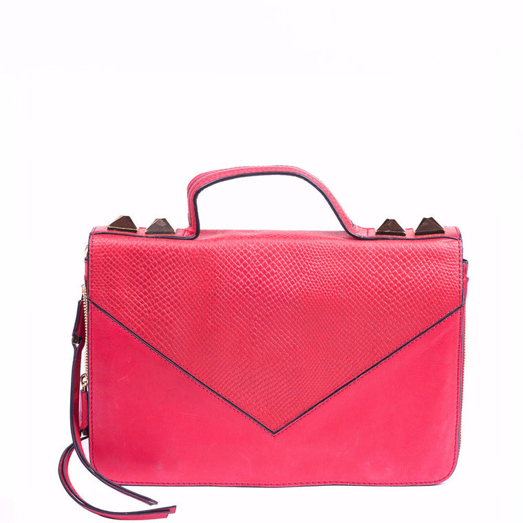 Linea Pelle Grayson Shoulder Bag in Red