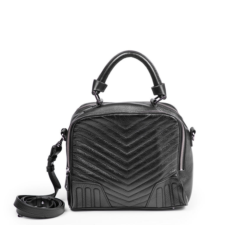 Linea Pelle Camera Bag in Black