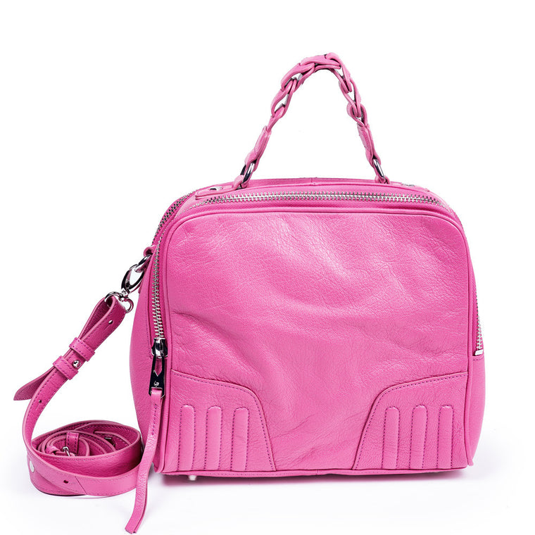 Linea Pelle Camera Bag in Pink