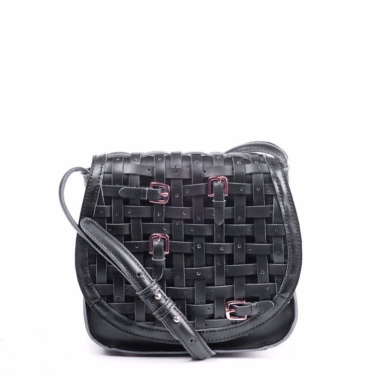 Linea Pelle Saddle Bag in Black