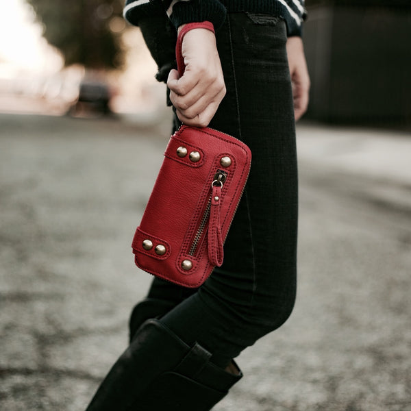 Linea Pelle Dylan Wallet in Ruby
