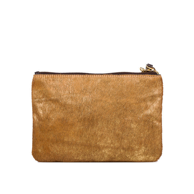 Linea Pelle Small Clutch Set in Gold