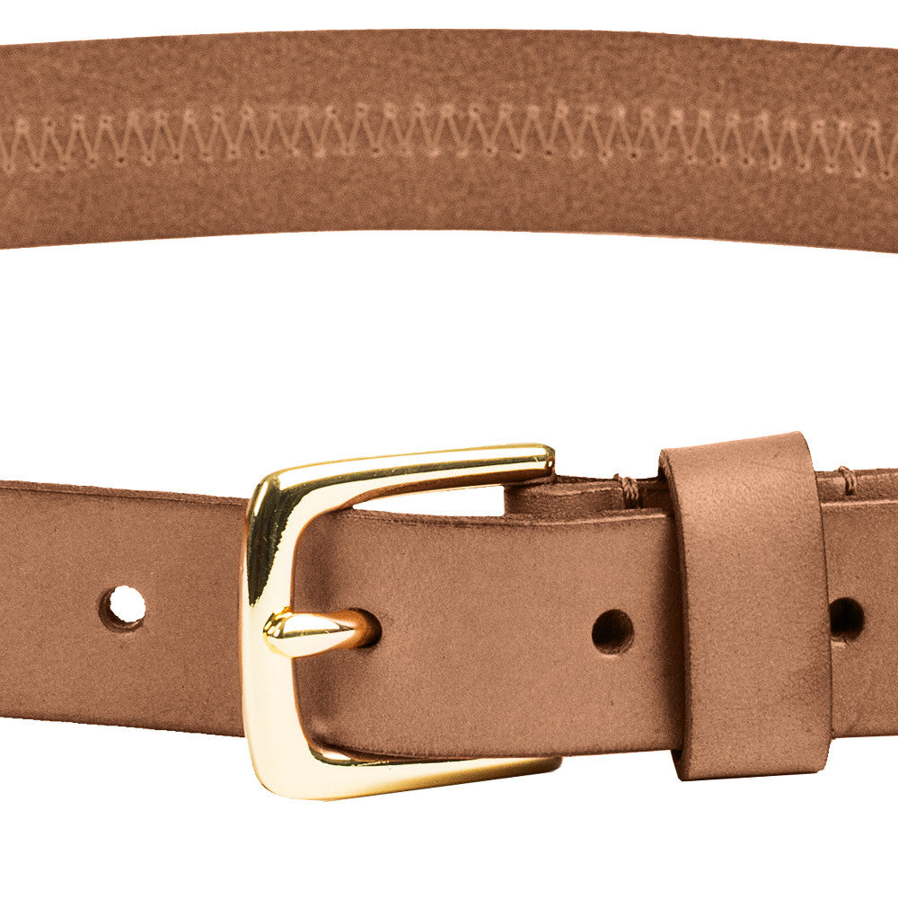 Linea Pelle Hip Belt with Detailed Stitch in Cognac