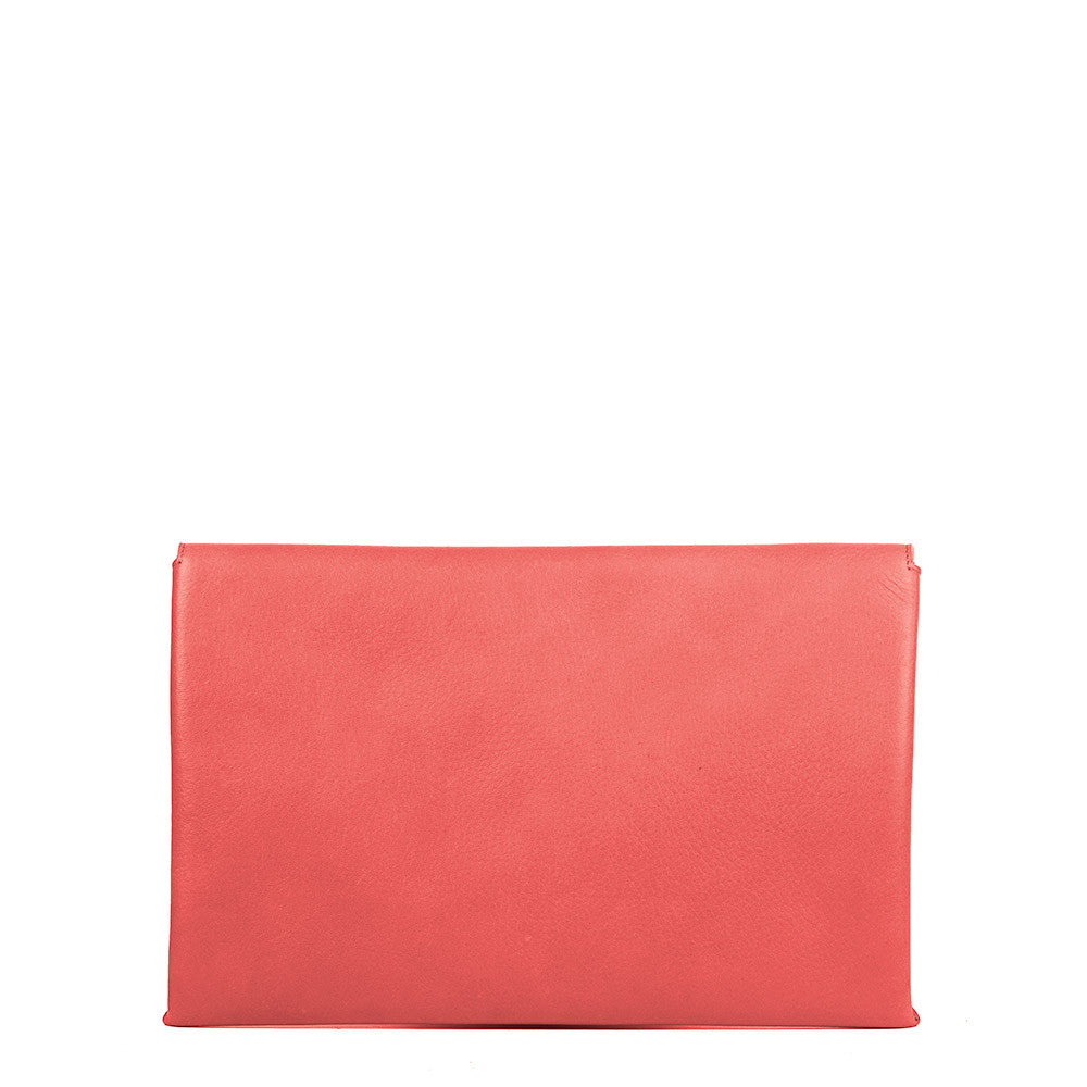 Linea Pelle Hunter Clutch in Coral