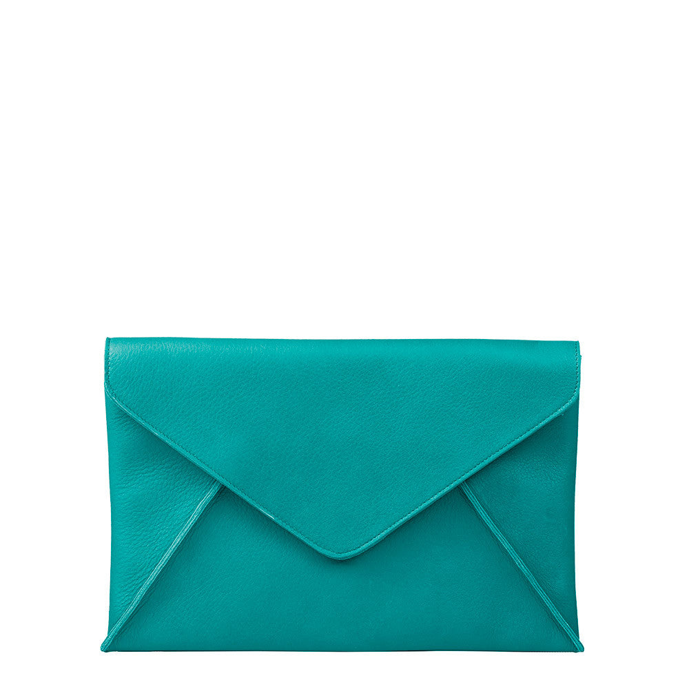 Linea Pelle Hunter Clutch in Peacock