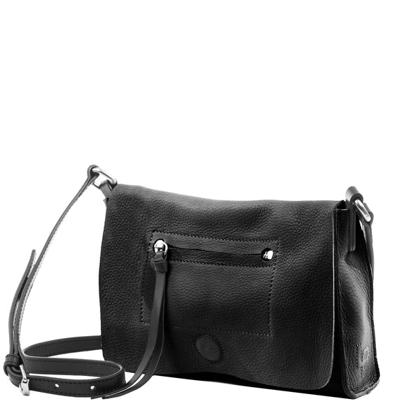 Linea Pelle Hunter Crossbody in Black