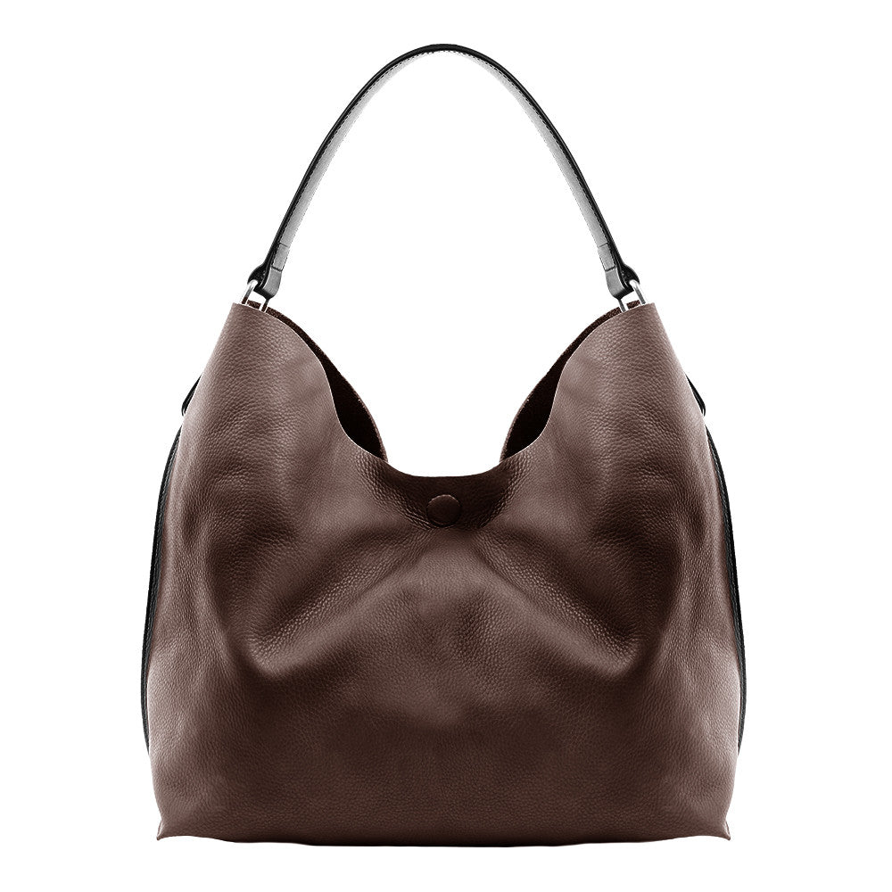 Linea Pelle Hunter Hobo in Chocolate