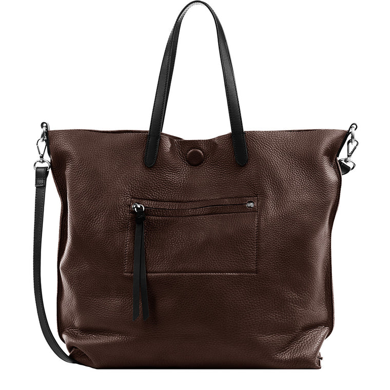 Linea Pelle Hunter Tote in Chocolate