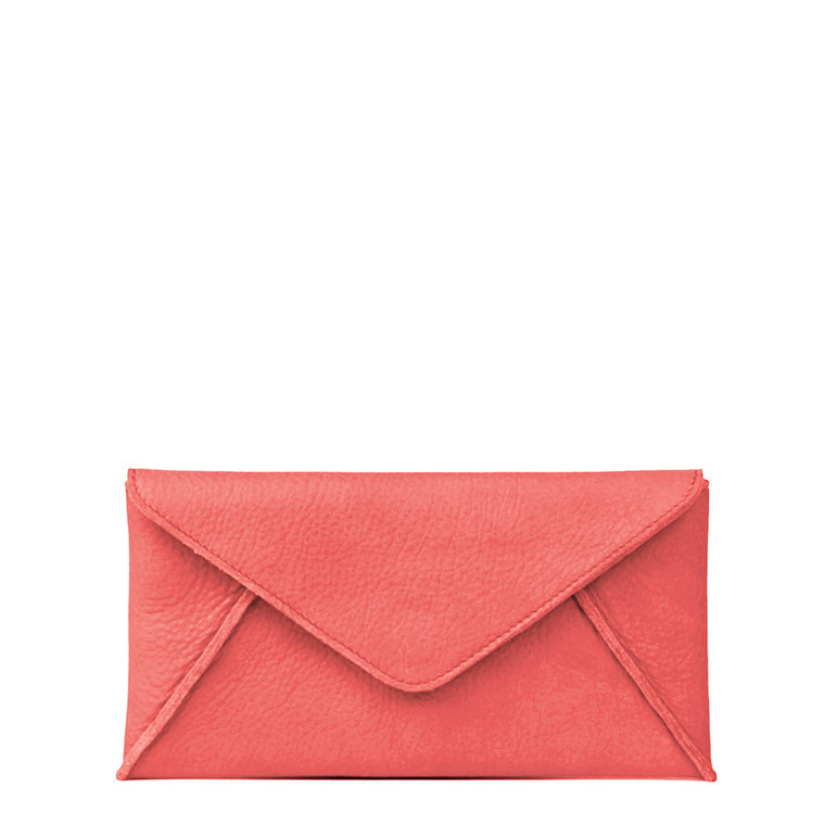 Linea Pelle Hunter Wallet in Coral