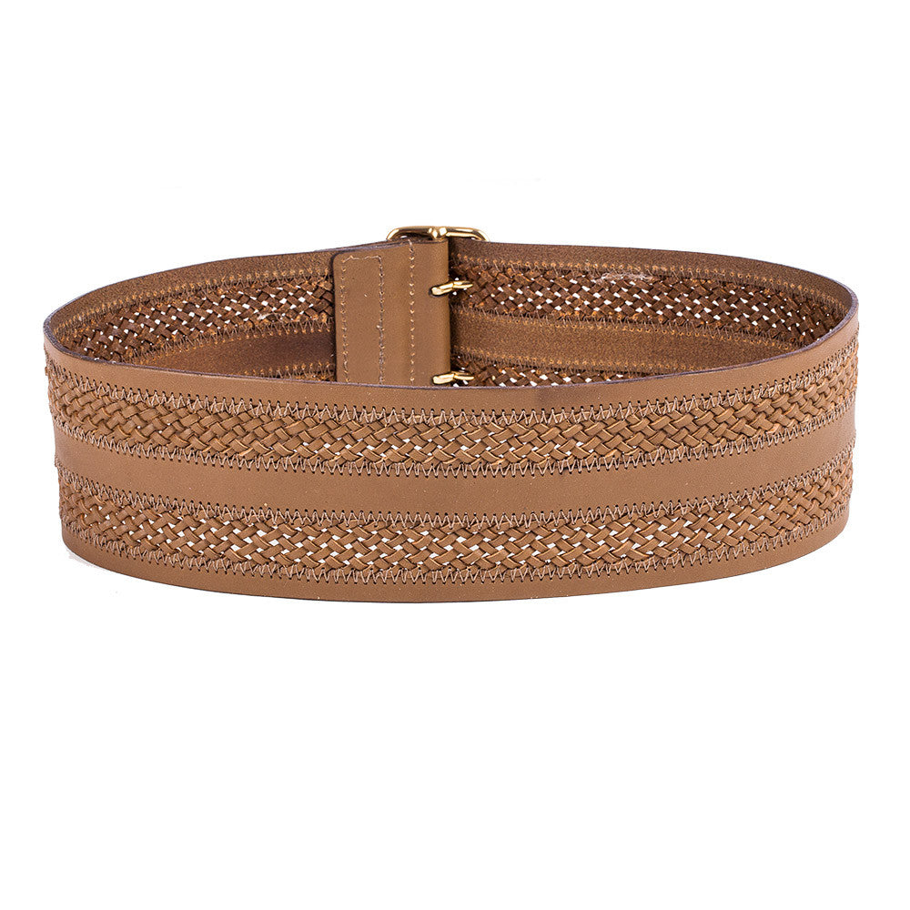 618b5fedb Inset Braid Wide Waist Belt by Linea Pelle | Linea Pelle | Luxury ...