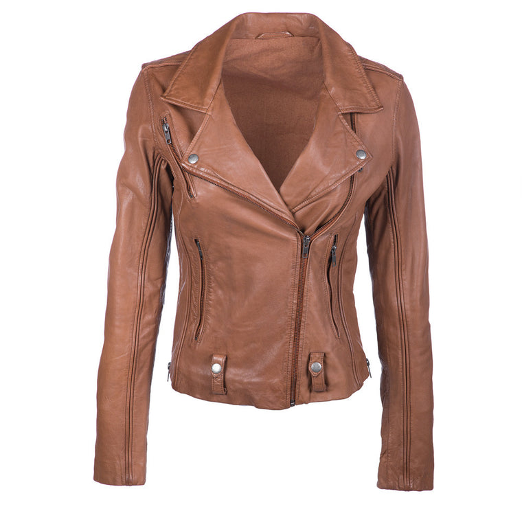James Fitted Leather Jacket