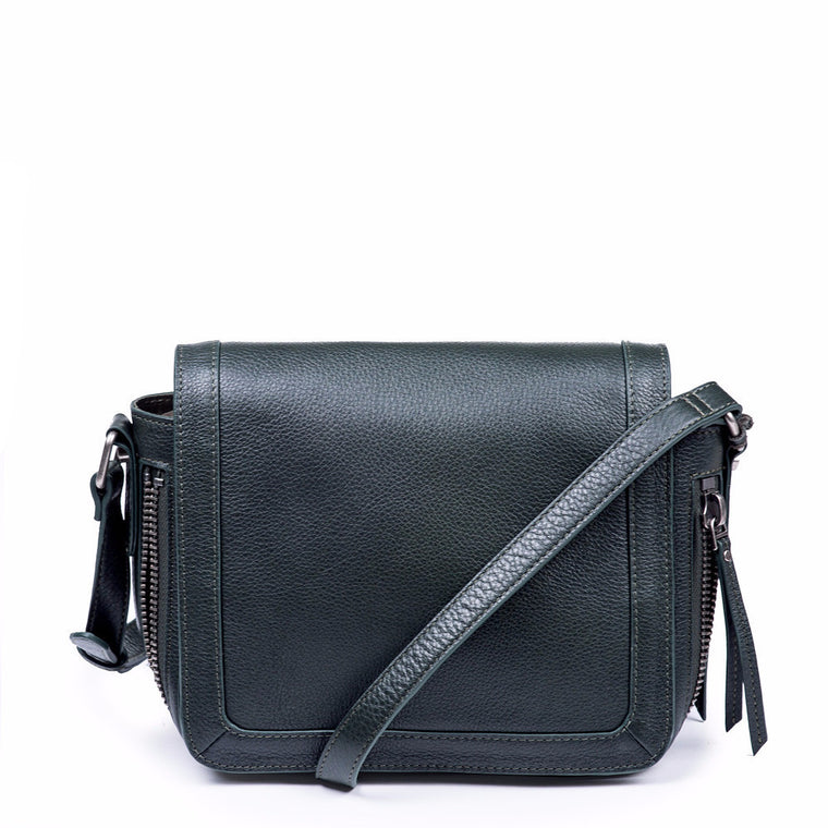 Linea Pelle Saddle Bag in Hunter