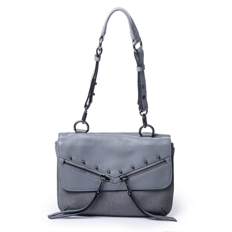 Linea Pelle Shoulder Bag in Grey