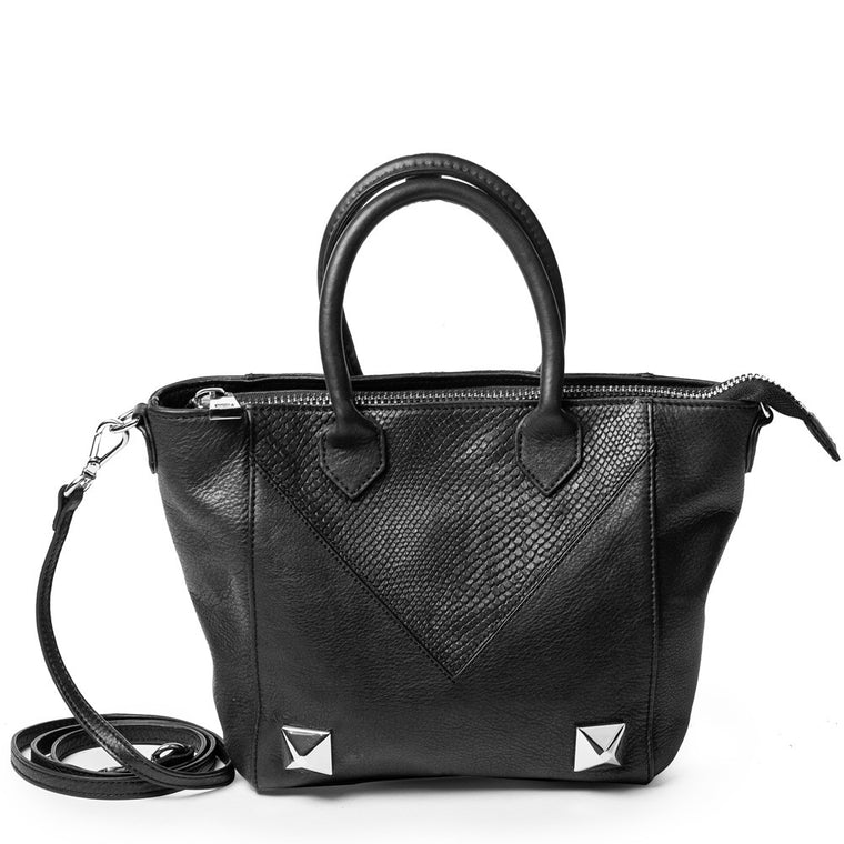 Linea Pelle Grayson Mini Tote in Black
