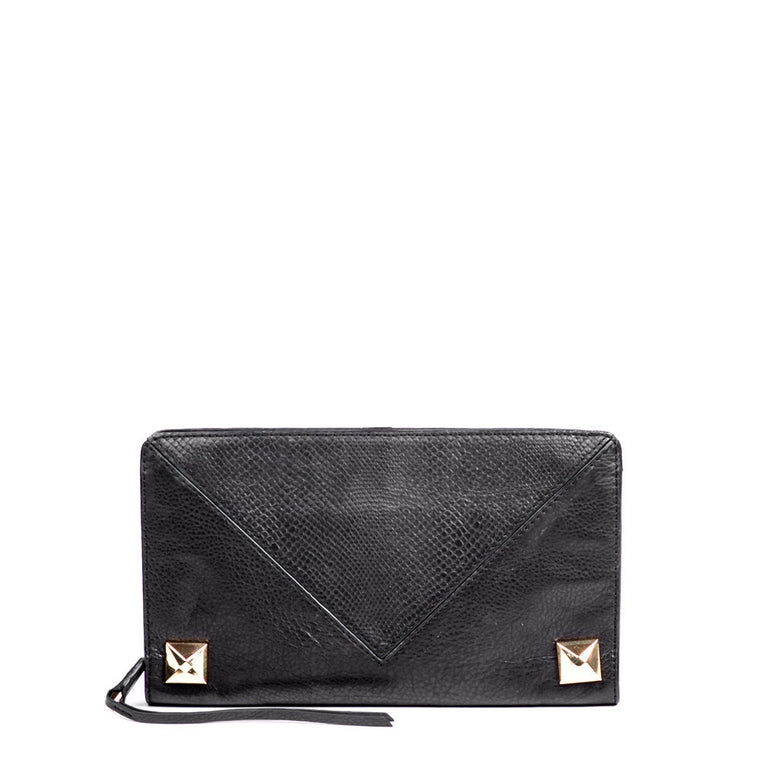 Linea Pelle Grayson Clutch in Black
