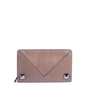 Linea Pelle Grayson Clutch in Taupe