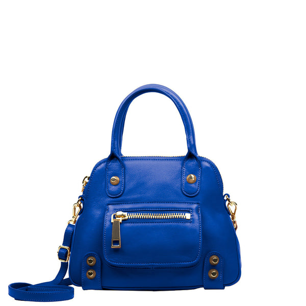 Linea Pelle Lady Dylan Mini Satchel in Cobalt