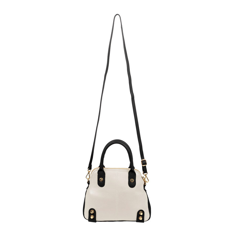 Linea Pelle Lady Dylan Mini Bag in Black and White