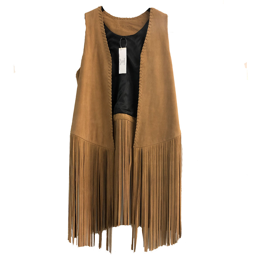 The Vest | Suede Camel
