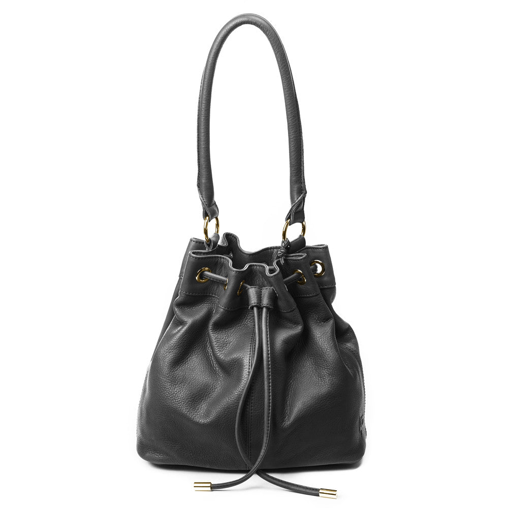 Linea Pelle Dylan Bucket Bag in Black