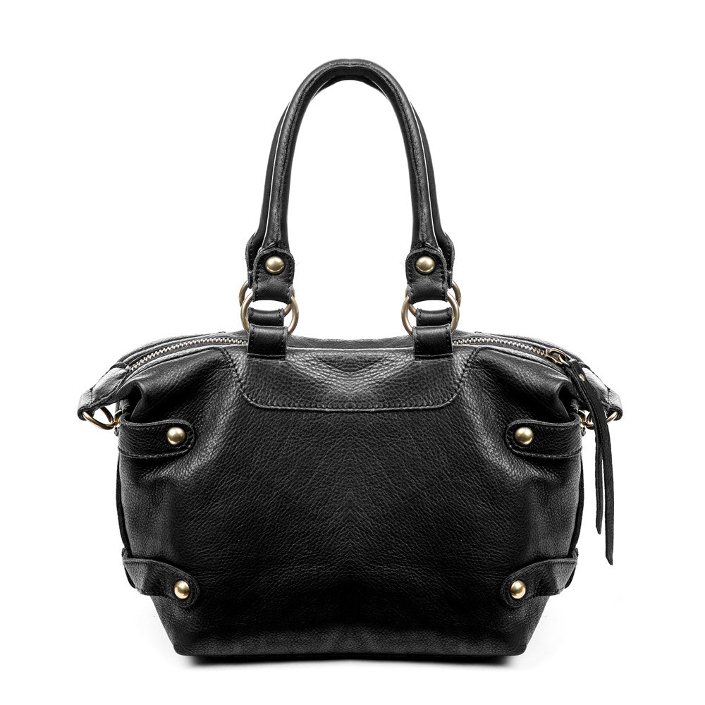 Linea Pelle Dylan Satchel in Black
