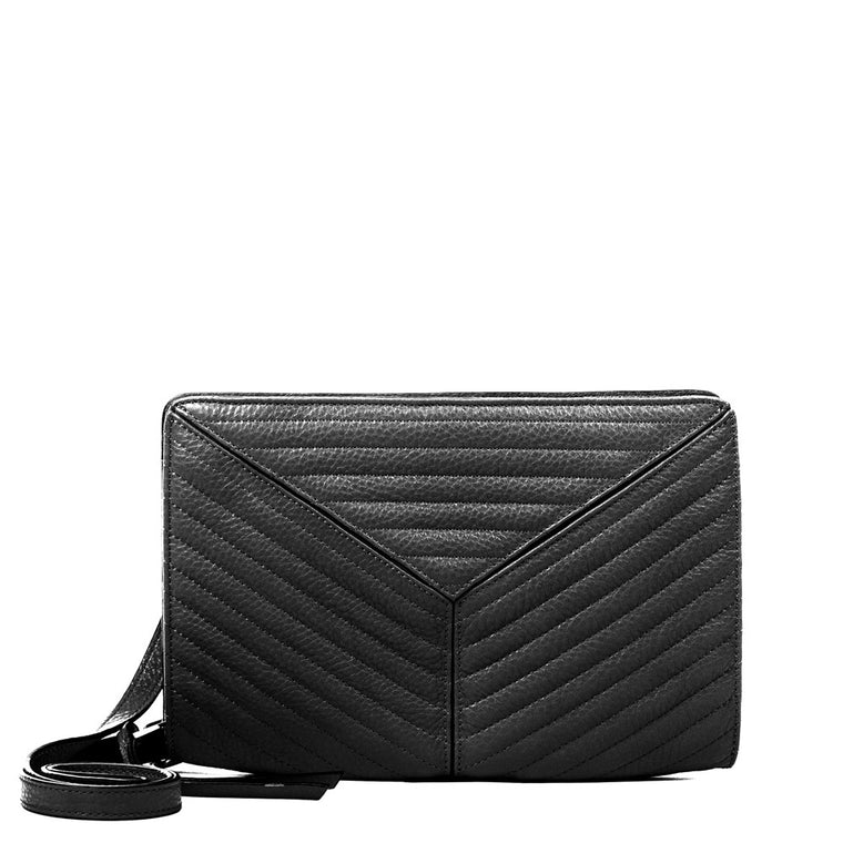 Linea Pelle Gianna Crossbody Bag in Black