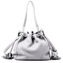 Load image into Gallery viewer, Linea Pelle Ryan Bucket Bag in White