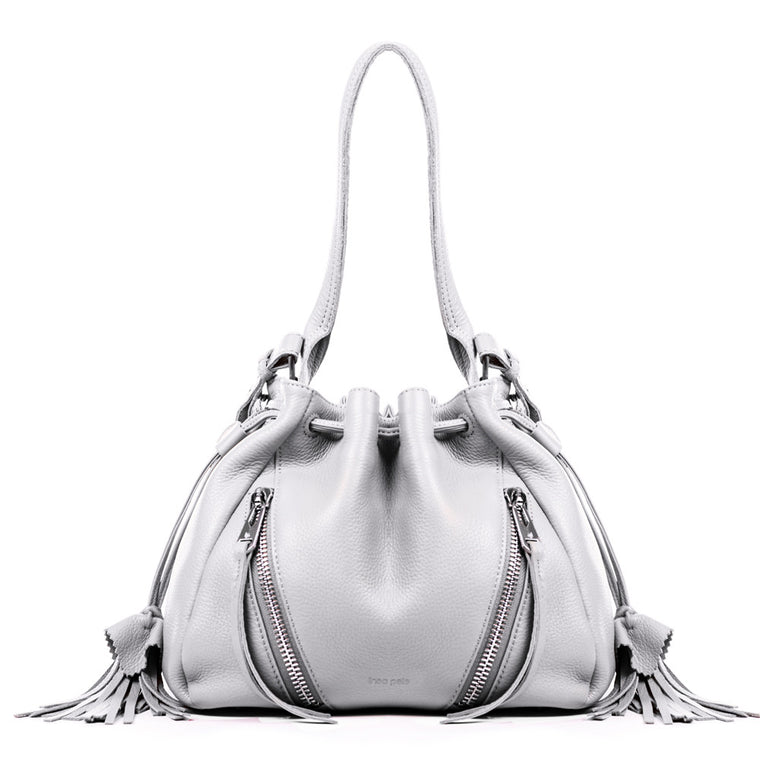 Linea Pelle Ryan Bucket Bag in White