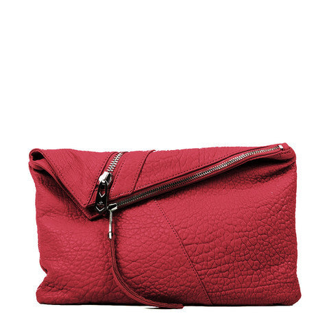 Linea Pelle Jude Clutch in Rouge