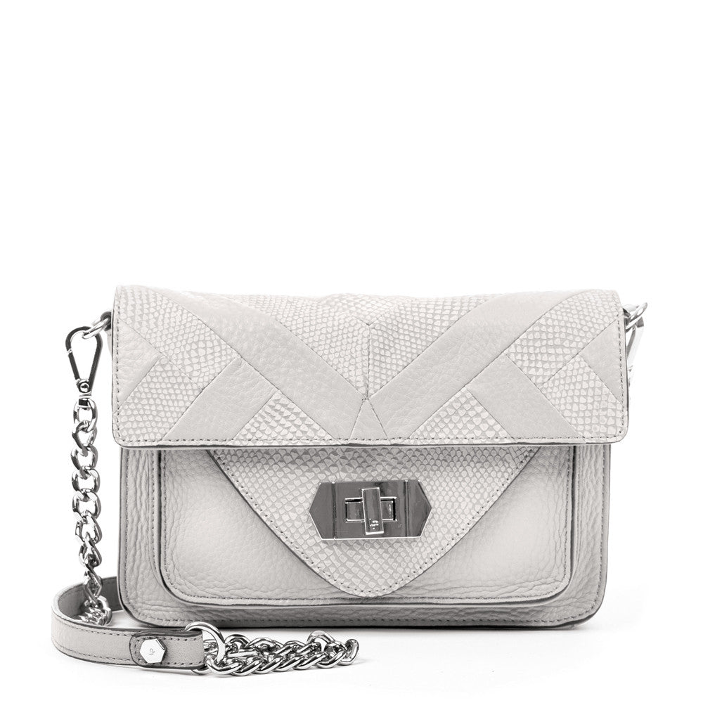 Linea Pelle Layla Shoulder Bag in White