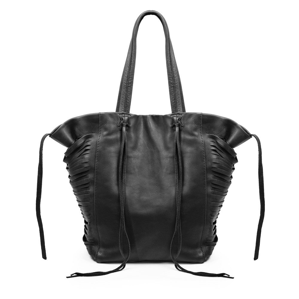 Linea Pelle Harper Sliced Tote in Black