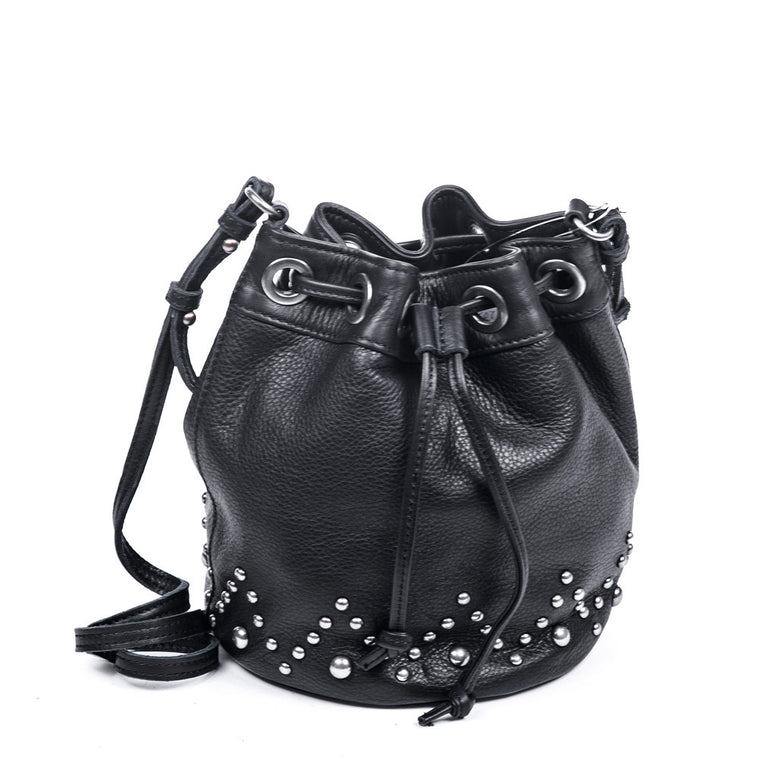 Linea Pelle Carson Bucket Bag in Black