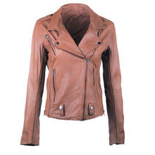 Load image into Gallery viewer, Linea Pelle James Fitted Leather Jacket in Spice