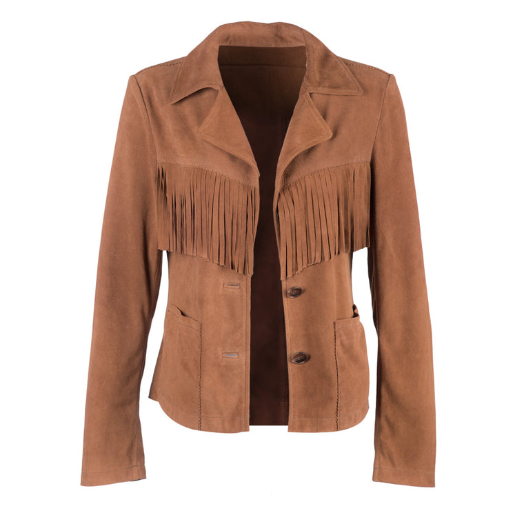 The Fringe Blazer | Camel
