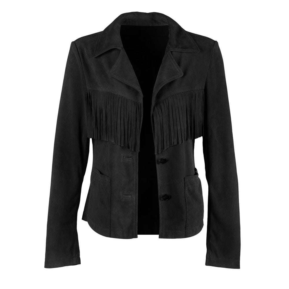 The Fringe Blazer | Black
