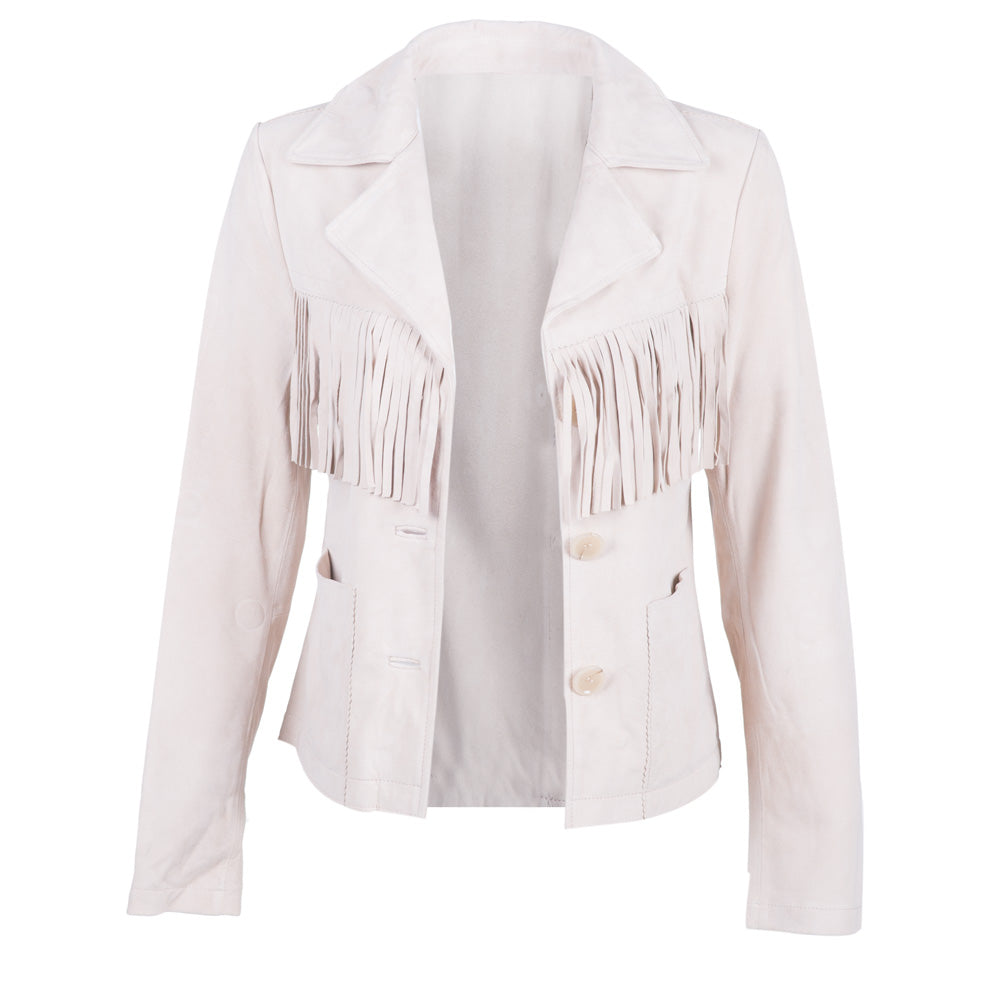 The Fringe Blazer | Cream