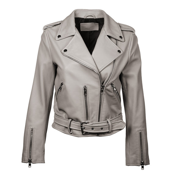 Cameron Crop Leather Jacket